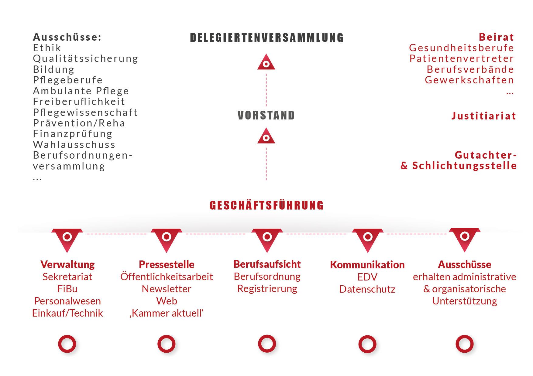 Darstellung der Struktur der Berliner Pflegekammer