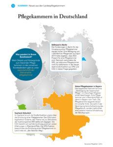 Bild über den Stand zur Errichtung von Pflegekammern in Deutschland